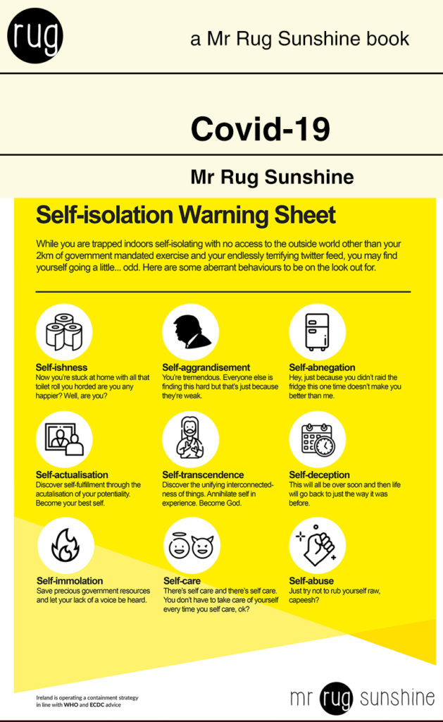Covid-19: Self-isolation Warning Sheet
